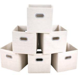 Other - 6 Pcs Fabric Cloth Storage Bins Foldable Cubes